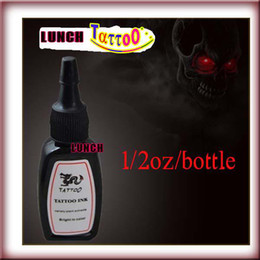 Wholesale Top Tattoo Inks - 1 Bottle Top Blackish Black Tattoo Ink Pigment 15ml 1 2 oz Kit Supply