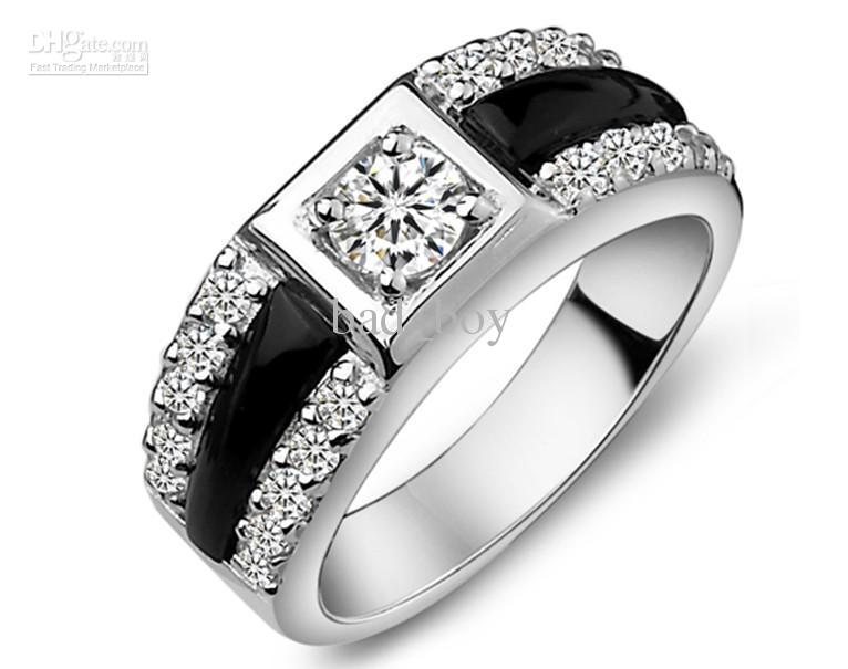 Fashion Male Models Diamond Ring Couple Ring Engagement Ring Wedding