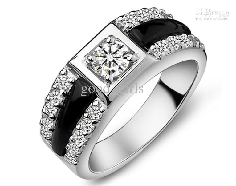 Fashion Diamond Rings Mens Diamond Ring Couple Ring Engagement Ring