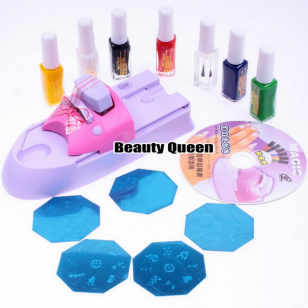 Nail art diy printing machine stamp kit stamping printer set nail art diy printing machine stamp kit stamping printer set polish stencil print image plate design nail art images nail art ideas from beautyqueen prinsesfo Images