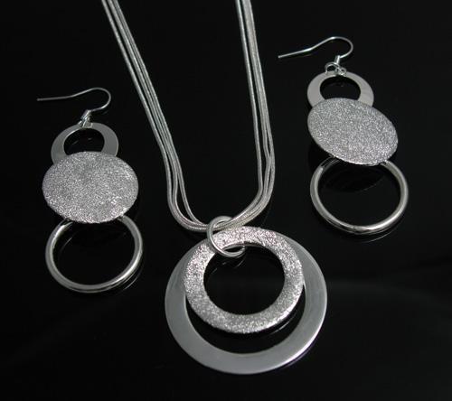 Оптовая низкая цена рождественский подарок стерлингового серебра 925 ожерелье+серьги комплект S73