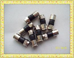 Wholesale Coaxial Cable Plug - Compression Connector RG6 F Type Coaxial Cable Connector Plug Male RG-6 Four Shield (Qty 25)