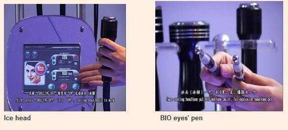 cavitationliposuctionRFbiocooling pour les yeux de beauté faciaux
