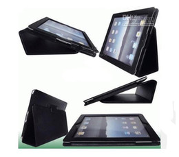 Wholesale Ipad2 Covers - Christmas gift PU Leather Case Cover For Ipad2 Tablet PC Protector Pouch Bags 1pcs lot rw#1
