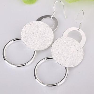 Fashion jewelry 925 Silver 3-wire Bead Girl dangle earrings Hot