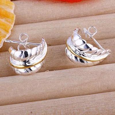 Mode Smycken 925 Silver 3-Wire Bead Girl Dangle Örhängen Hot