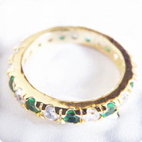 Free Shipping ELEGANT NATURAL 3. 3CT EMERALD 14KT YELLOW GOLD...