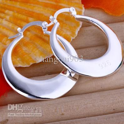 Moda biżuteria 925 Srebrny 3-przewodowy Koralik Dziewczyna Dynda Kolczyki Hot 10 Par