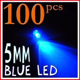Wholesale Blue Led 5mm Bulbs - 100 x 5mm Ultra Bright Blue 8000mcd LED Bulb Light pb free promotion christmas halloween