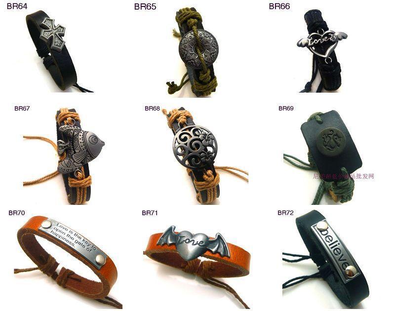 Новое прибытие мужские кожаные браслеты регулируемые высокое качество на складе порядка 36 шт. / лот