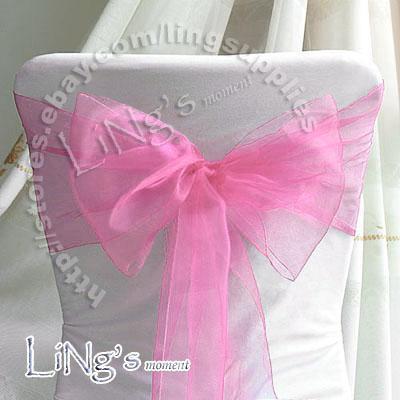 Номер для отслеживания - 100шт лиловый свадебный банкет стул бантик из органзы