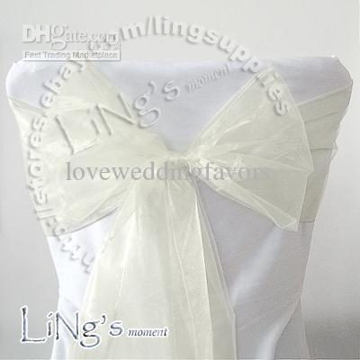 El número de seguimiento - 100pcs banquete de boda de la silla del banquete MARFIL Organza Arco