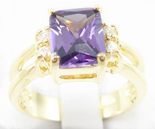 Бесплатная доставка идеальный великолепный натуральный 2.2 карат танзанит драгоценный камень 14-каратного золота кольцо -TY024