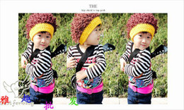 Wholesale Baby Girl Hats Wig - wholesale 10 pcs The explosion of a wig hat modelling cap children baby hat
