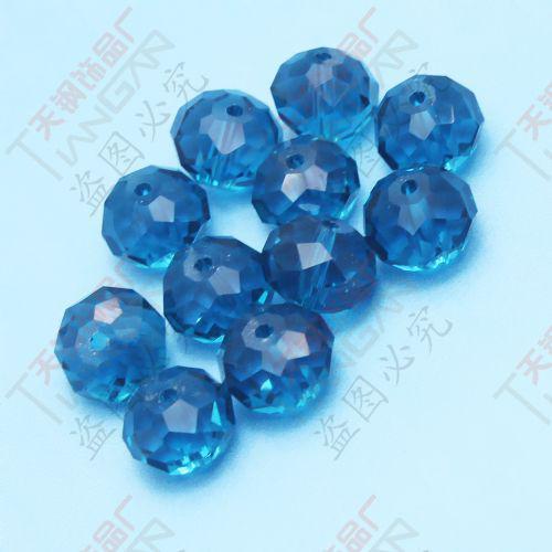 Mode pärlor gåvor diy grossist djupblå fasetterad 10mm runda kristall lösa glaspärlor, gjorda i Kina