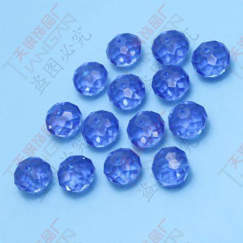 送料無料ビッグセール100ピース/卸売青い椎間板10mm丸型クリスタルルースガラスビーズ、中国製