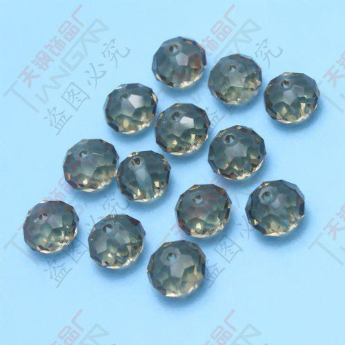 Mode nya grossistfacetterade 10mm runda mörka färgkristall lösa glaspärlor, gjorda i Kina