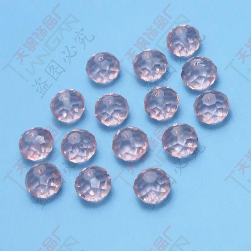 クールな熱い販売120ピースの卸しさの赤みがかったファセット10mmの円形の水晶緩いガラスビーズ、中国製