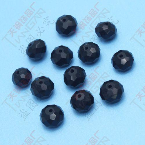 Charming Trendy wholesale black Faceted 10mm Diameter Shining crystal Loose glass Beads,Made in China