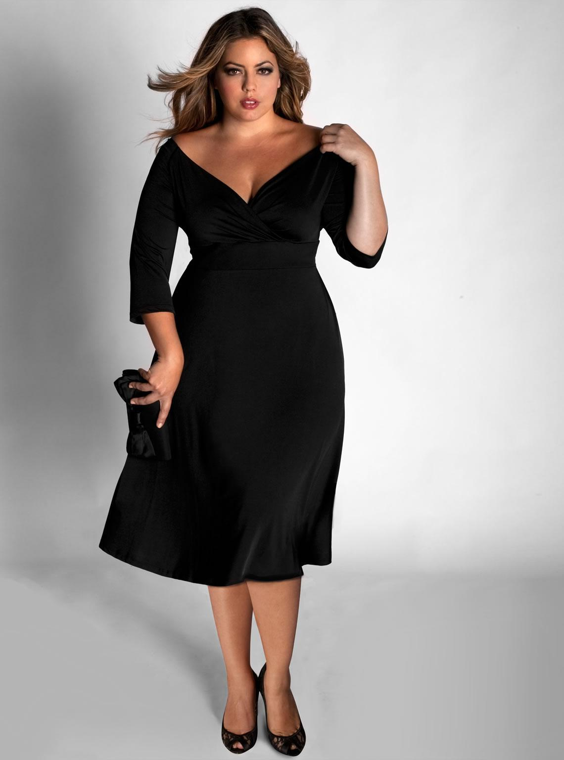 Long Sleeve Black Dress Plus Size Good Dresses