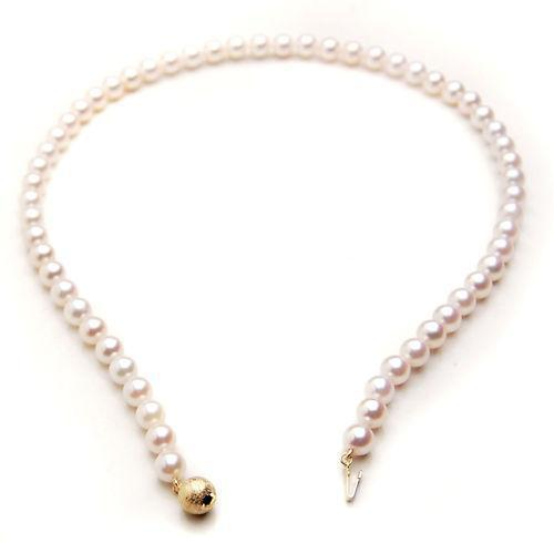 best selling Fine pearls jewelry Japanese Akoya White Saltwater Pearl Necklace 7-8mm 18inches