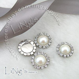 Wholesale Crafting Pearls - Wholesale -2011 HOT SELL!-50PCS 15mm Pearl Ivory Circle Diamante Cluster Craft DIY wedding Decor