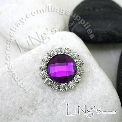 Gros -2011 VENDRE CHAUDE! -50 PCS 15mm Perle Ivoire Cercle Diamante Cluster Artisanat BRICOLAGE décor de mariage