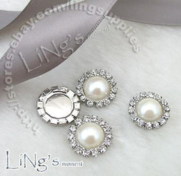 Wholesale Diamante Craft - Wholesale -lowest price!-100PCS 15mm Pearl Ivory Circle Diamante Cluster Craft DIY wedding Decor