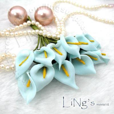 Darmowa Wysyłka-288 Sztuk Peach Handmade Mini Calla Lily Kwiat Wedding Favor Decor Scrapbooking