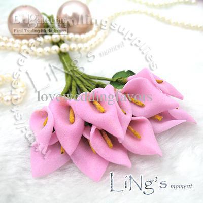 Green Handmade Mini Calla Lily Flower Wedding Favor Decor Scrapbooking