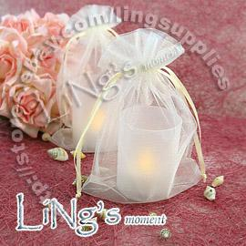 Shipping-100pcs Avorio 10 * 15cm Organza puro favore borsa da sposa Sell Gift Bag Pouch-Hot