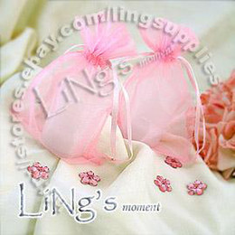 Wholesale Hot Pink Organza Favor Bags - Free shipping-100pcs Light Pink 10*15cm Sheer Organza bag Wedding Favor Gift Bag Pouch-Hot Sell