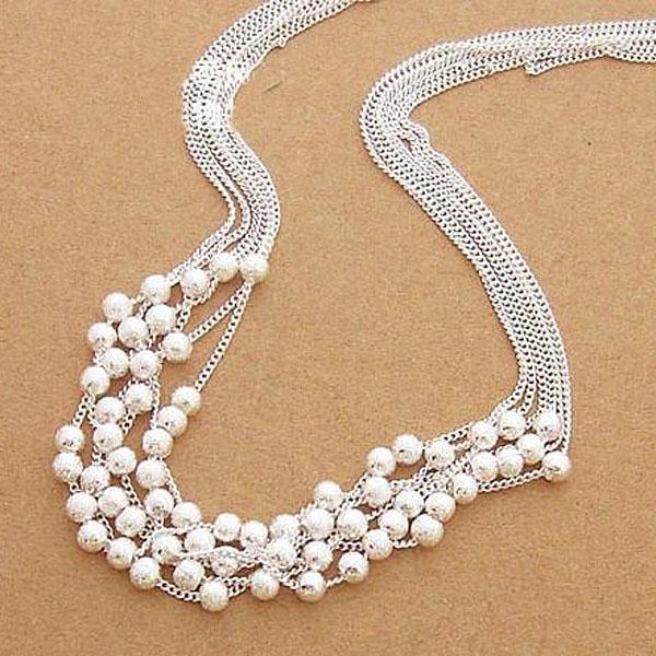 Оптовая торговля-розничная низкая цена рождественский подарок 925 серебряные ювелирные изделия бесплатная доставка ожерелье N08
