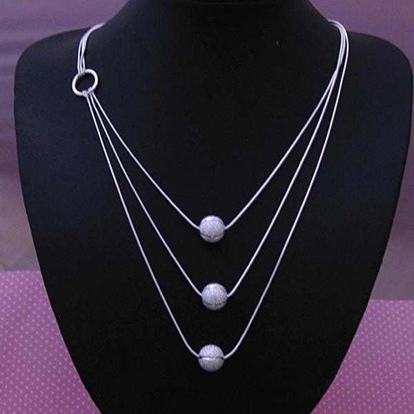 Al por mayor - El precio bajo al por menor regalo de Navidad 925 joyería de moda de plata envío gratis Collar N09