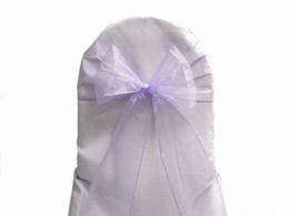 $enCountryForm.capitalKeyWord UK - 100 Lavender Organza Sashes Chair Cover Bow Wedding Party Banquet Shimmering Sash High Quality Free shipping New