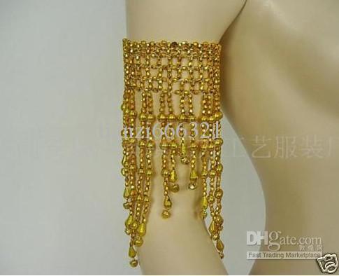 Hot Nieuwe Goud / Zilver Buik Dans Kostuum Kralen Armband Sieraden Belly Dance Charm Armbanden Buikdans accessoire
