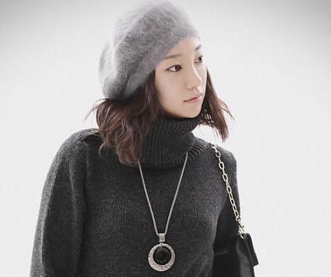 Новейшая мода береты шапка кролика волосы шапка рождественские подарки женские многоцветные совершенно новые 10 шт. / Лот