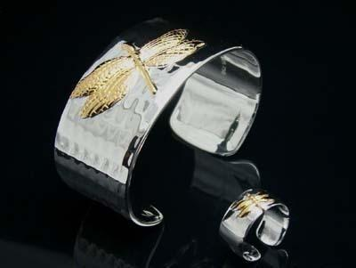 best selling Wholesale - - Retail lowest price Christmas gift 925 silver Oval Bracelet+Rings set S01