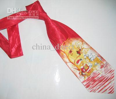 Cravate de Noël pour hommes Cravate cadeau thème de Noël cravate cravate X-mas 33pcs / lot # 1450