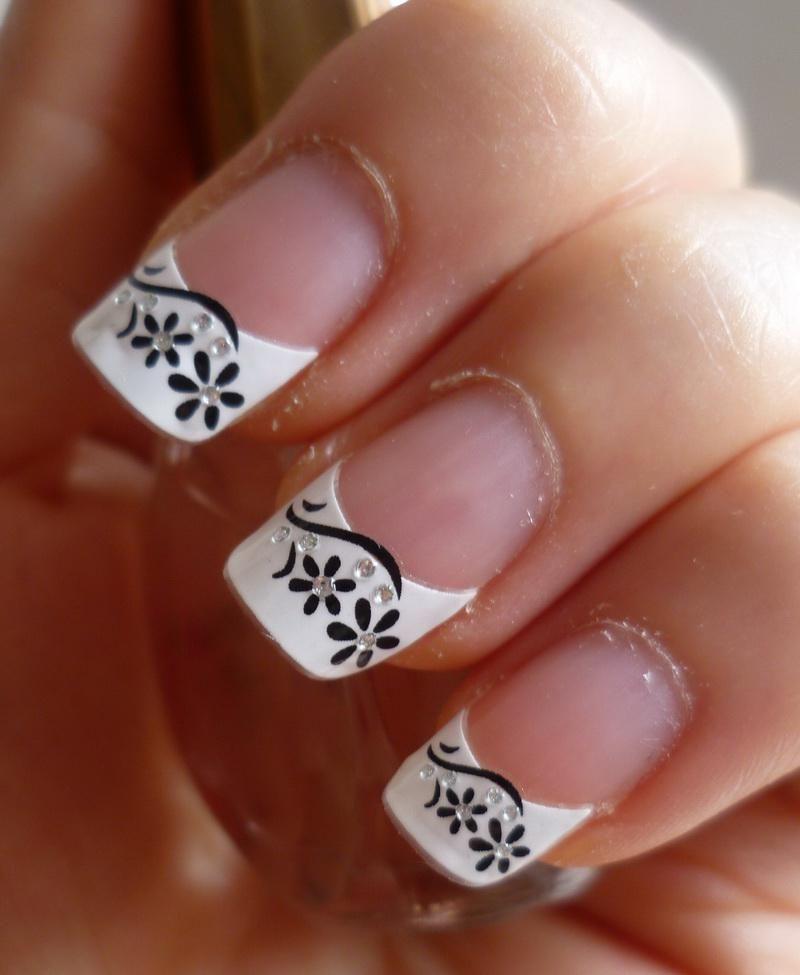 Exelent French Nails Art Photos Photos - Nail Paint Design Ideas ...