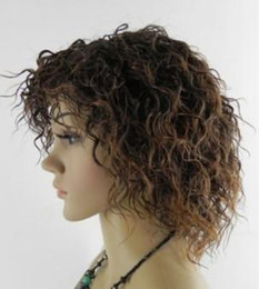 Wholesale Cheap Cosplay - Wholesale cheap NEW SHORT CURLY DARK BROWN FULL COSPLAY HAIR WIG & Wigs