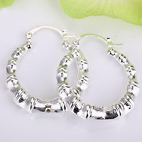 Wholesale 925 sterling ring price - Wholesale - - Retail lowest price Christmas gift 925 silver Earrings ,Twisted rope ring earrings fashion round twist earrings E156