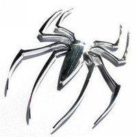 Wholesale Spider Car Decals - metal Car Stickers Spider Personalized 3D Stereo Decal Car Emblem Badge Sticker Bumper Stickers