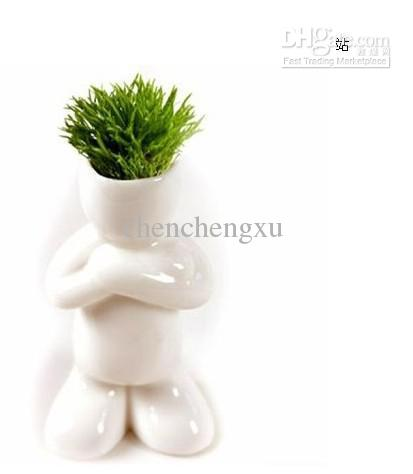 wholesale 10pc/lot Creative Gift Plant Hair man Plant Bonsai Grass Doll Office Mini Plant Fantastic