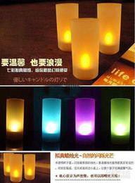 lámpara giratoria led Rebajas Al por mayor - 50pcs Led luz de las velas Velas activadas por voz Luces sin control de voz.
