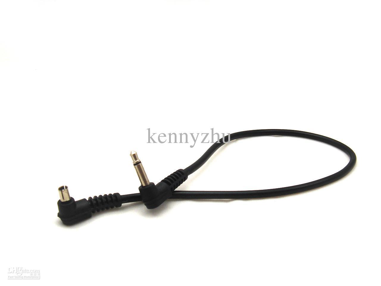 3.5mm Wtyczka do Męski Flash PC Synchronizacja Kabel Przewód 30 cm 12 '' Długość Wysoka jakość