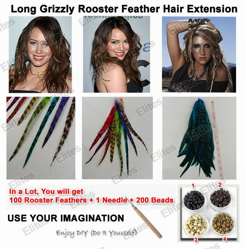 Long 10 13 inch grizzly rooster feather hair extension feathers long 10 13 inch grizzly rooster feather hair extension feathers extensions needle beads grf301 online with 6755piece on elitess store dhgate solutioingenieria Choice Image