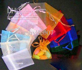 Livraison gratuite Mixed Bijoux Cadeau Organza sac 5x7 cm 7x9 cm 6x8 cm 8x10 cm 9 x 12 cm 1000 pcs / lot / mode