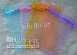 Бесплатная доставка смешанные ювелирные изделия подарок органза сумка 5x7cm 7x9cm 6x8cm 8x10cm 9x12cm 1000 шт. / лот / мода