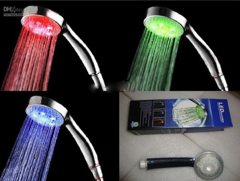 Promotion ! Colorful Bathroom Accessories Handheld Led LED Shower Faucet  Bateroom Faucet